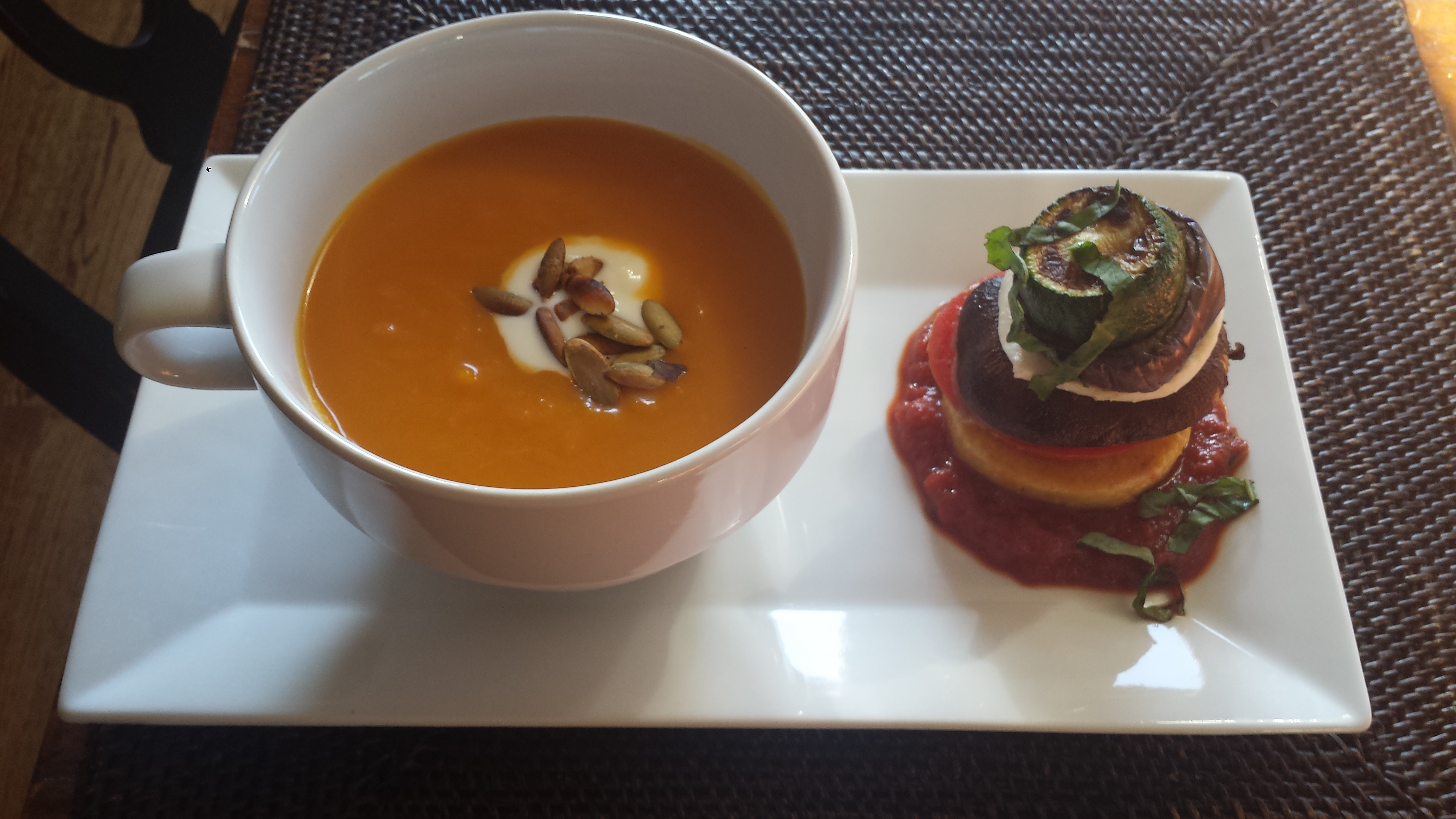 Butternut Squash Soup and Polenta Tower3