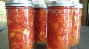 Canned heirloom tomatoes