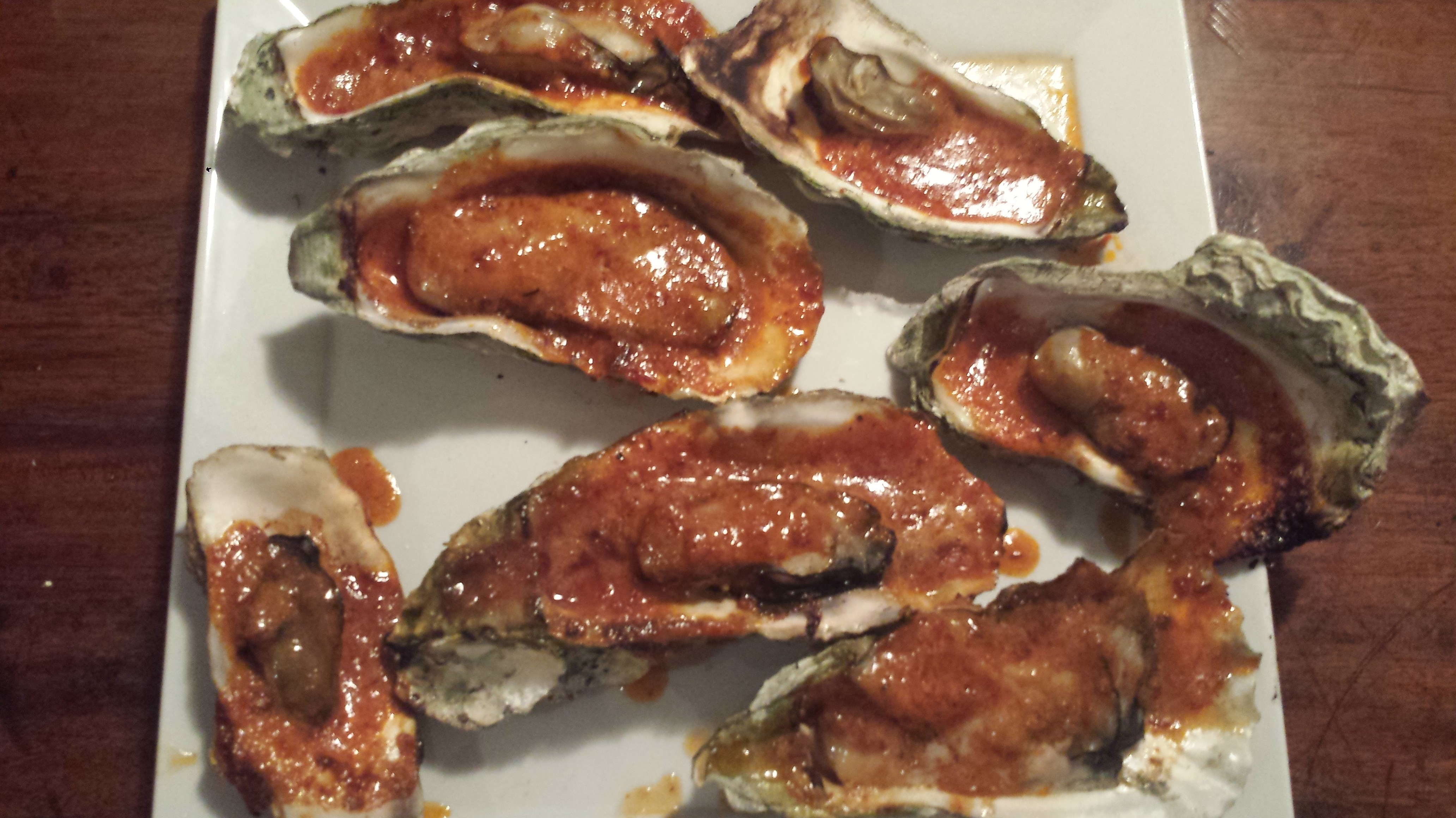 Grilled Oysters with Garlic Chipotle Butter | goodmotherdiet