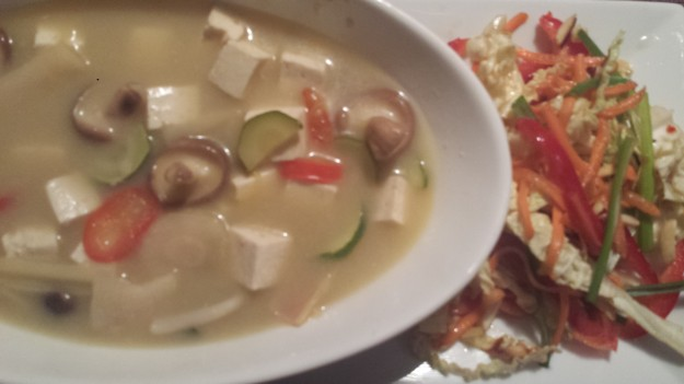 Tom Kha Tofu and Spicy Thai Salad