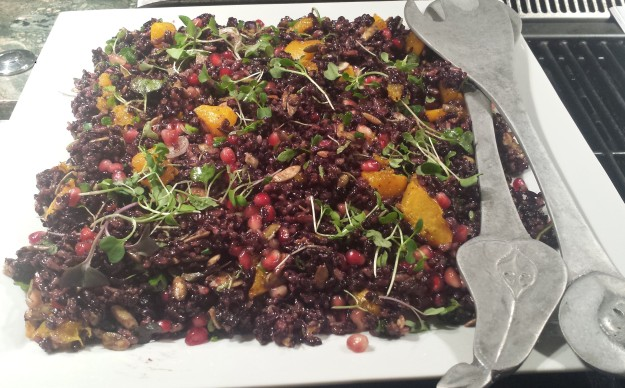 Black and Wild Rice with Roasted Squash