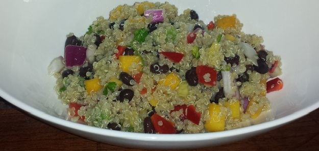 Black Bean Mango Quinoa Salad4