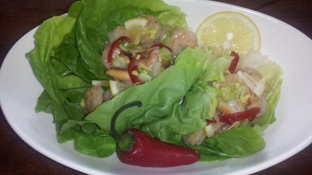 Shrimp Lettuce Wraps11