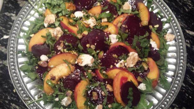 Beet Peach Salad13