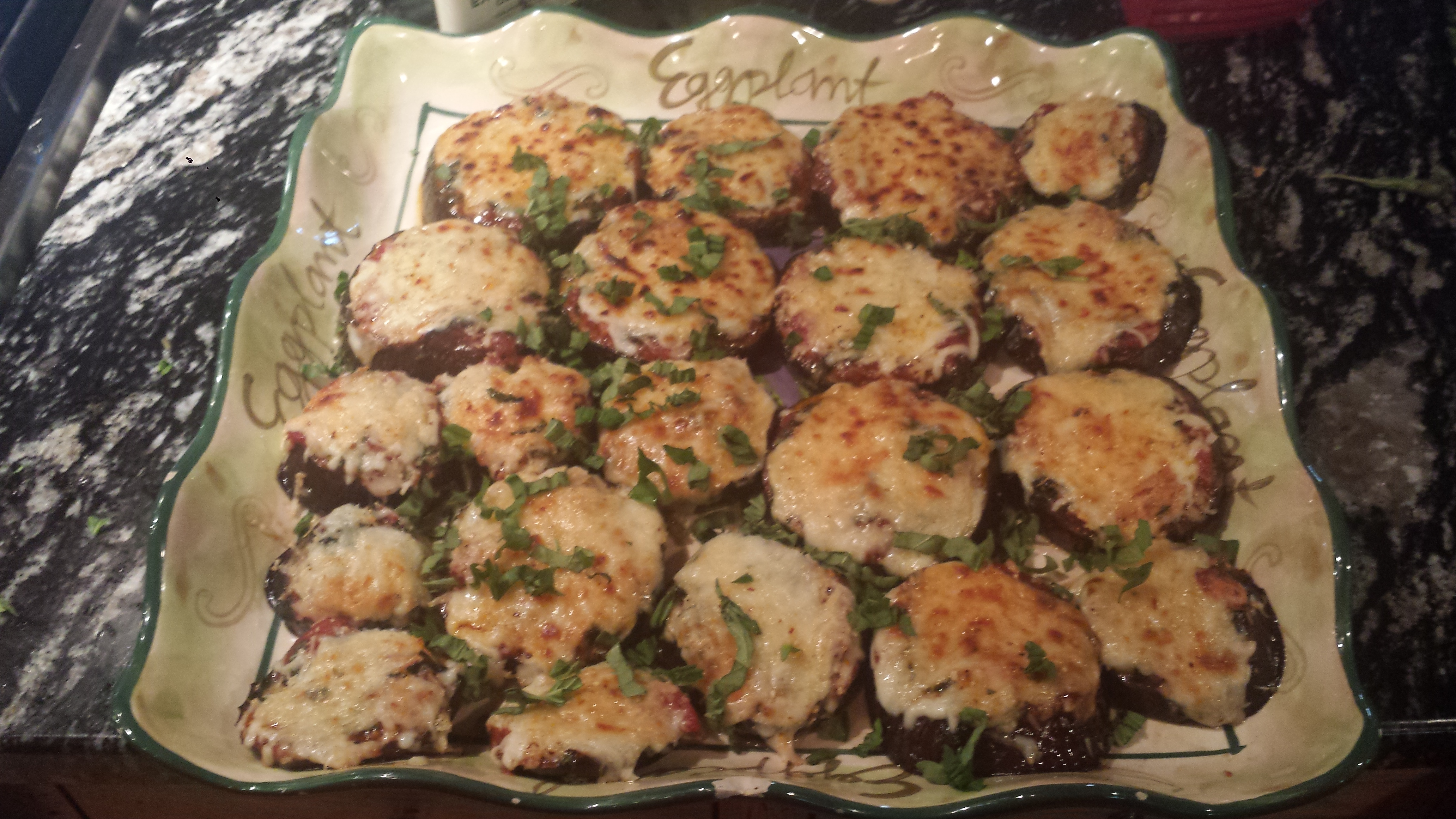 Mini eggplant parmesan goodmotherdiet raw eggplant can absorb an incredible amount of oil which adds unnecessary calories and fat eggplant is naturally low fat and low carb forumfinder Images