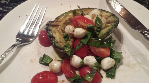 Grilled Avocado Caprese Salad7