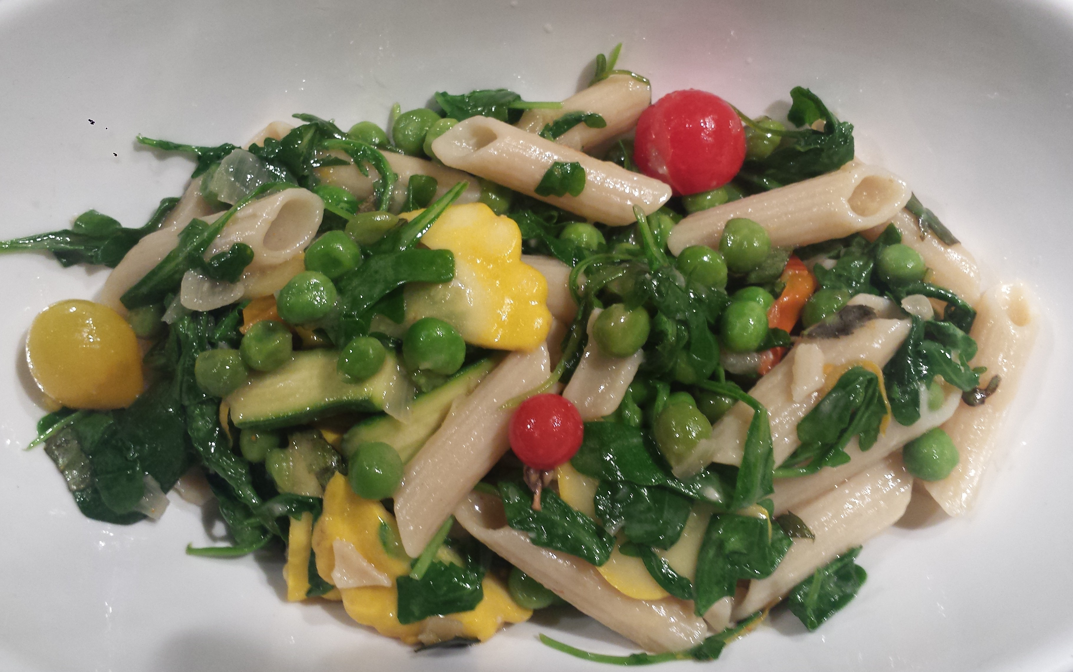 Meatless Monday – Pasta Primavera with Summer Squash, Peas and ...