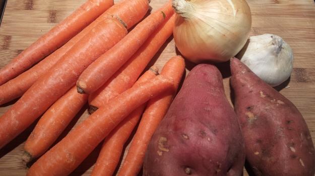 Carrot Sweet Potato Soup9