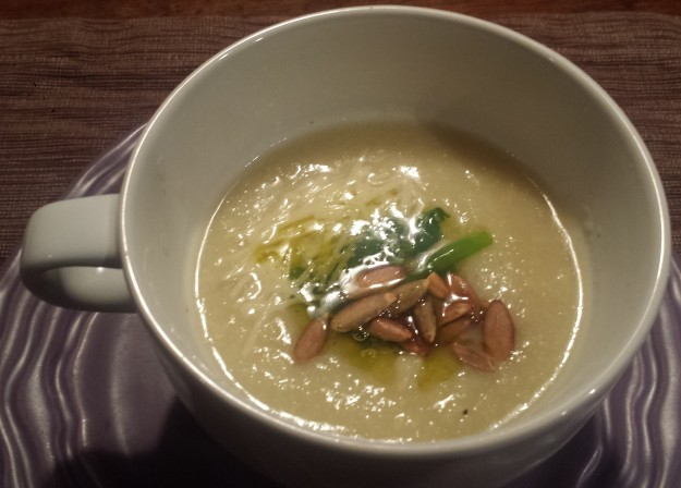 Cauliflower and Leek Soup3