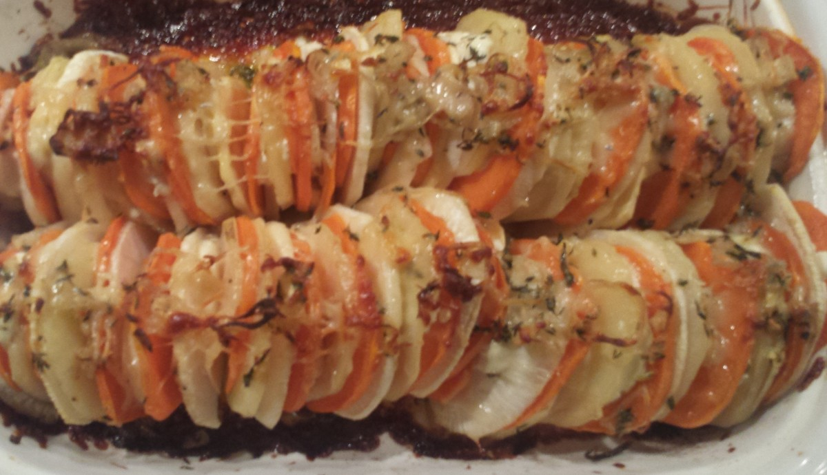 ... Vegetable Tian with Goat Cheese and Crispy Shallots | goodmotherdiet