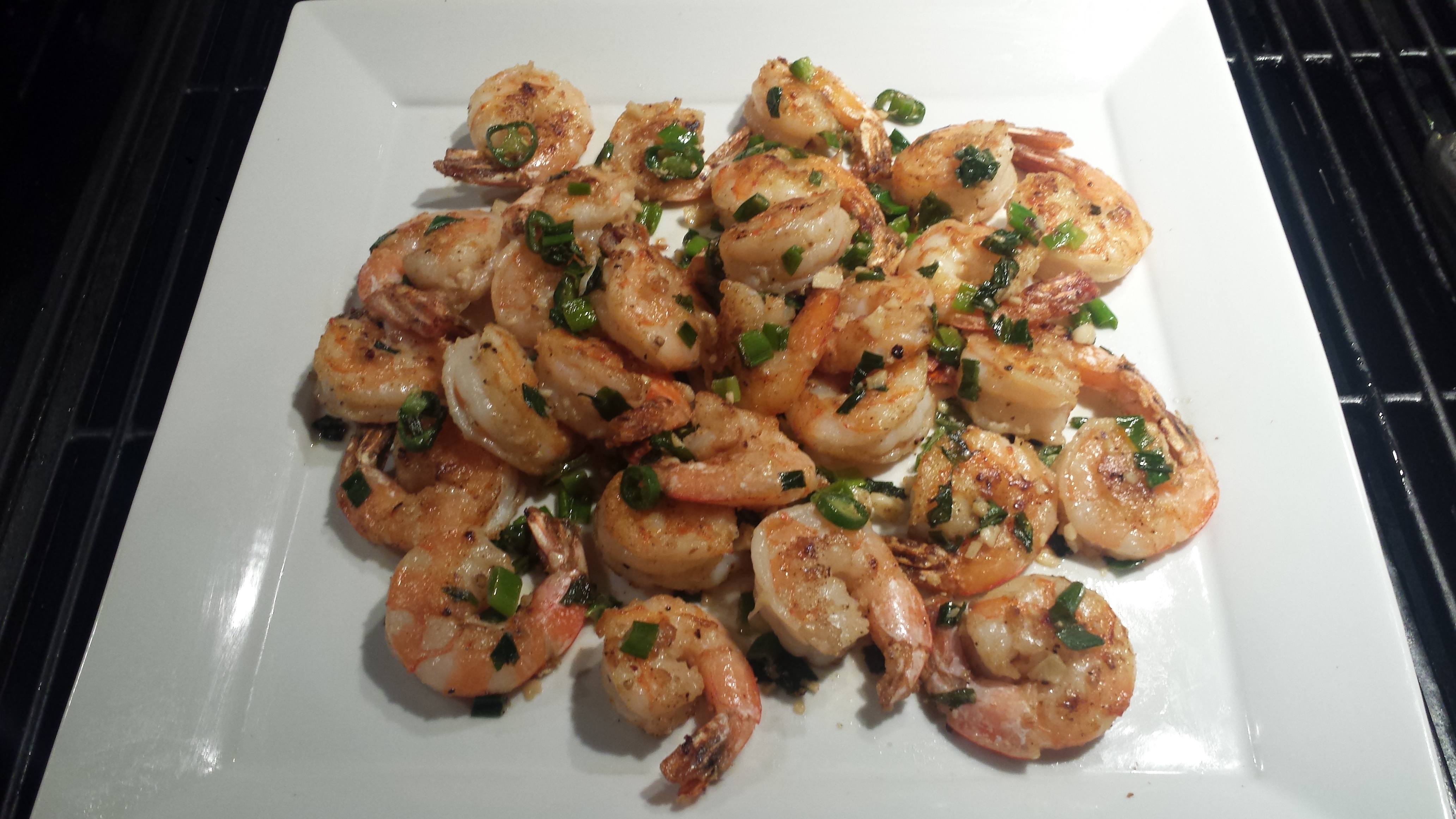 Salt-and-Pepper Shrimp With Garlic And Chile Recipe — Dishmaps