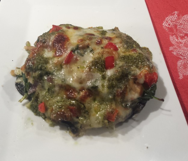 Portobello Stuffed with Greens18