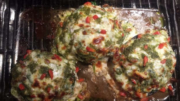 Portobello Stuffed with Greens2
