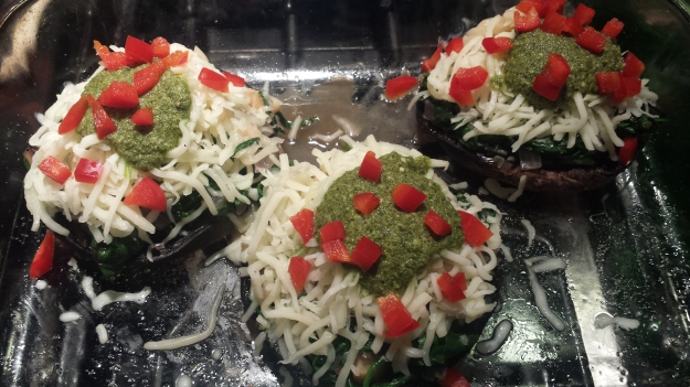 Portobello Stuffed with Greens3