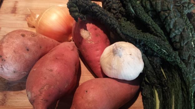 Sweet Potato Kale Gratin1
