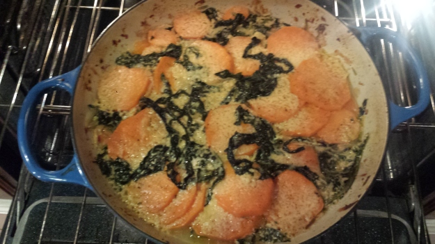 Sweet Potato Kale Gratin10