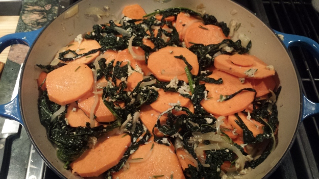 Sweet Potato Kale Gratin8