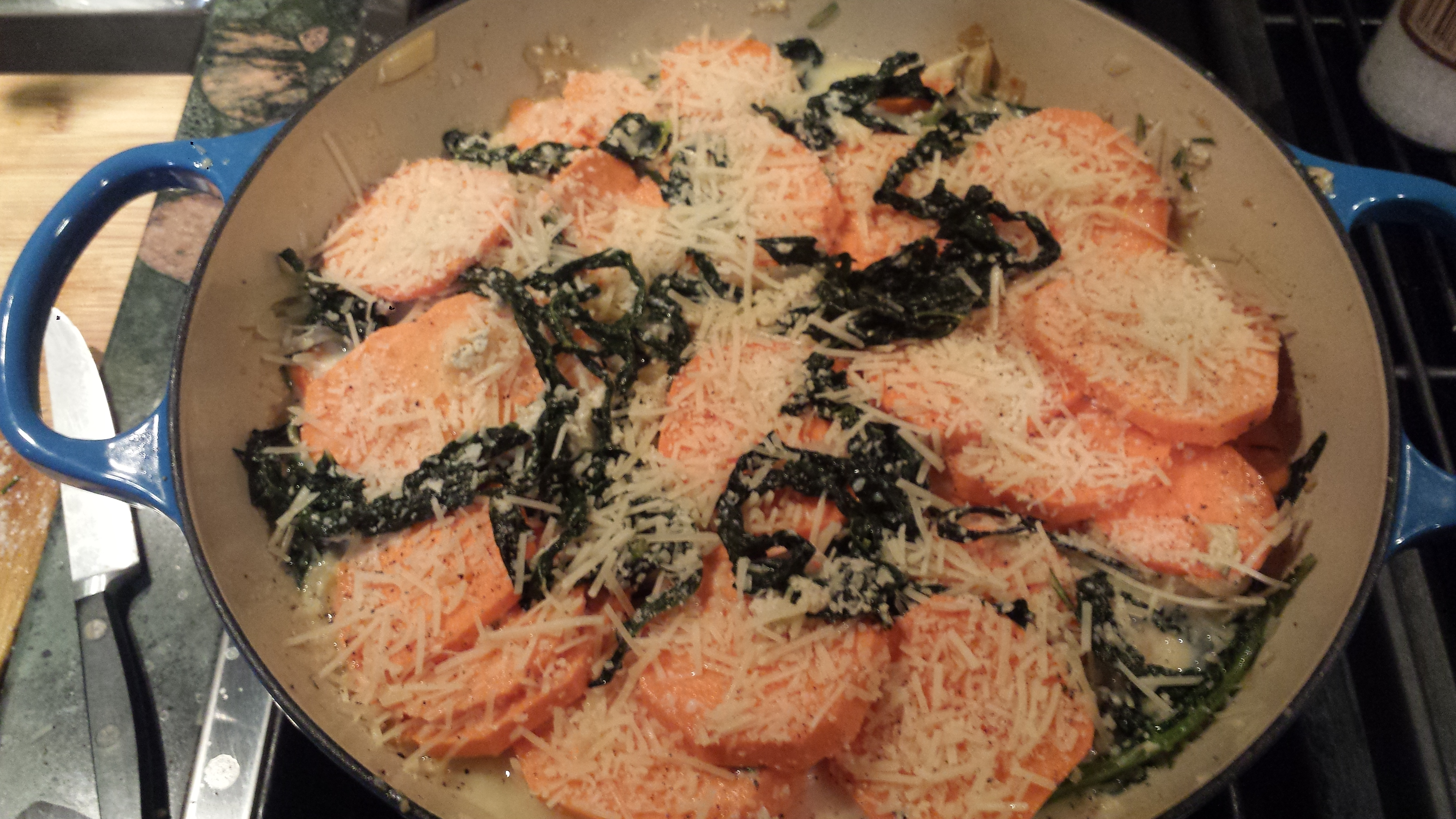 Meatless Monday – Sweet Potato and Kale Gratin ...