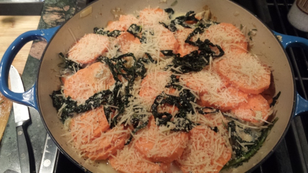Sweet Potato Kale Gratin9