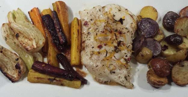Cod with roasted veggies11