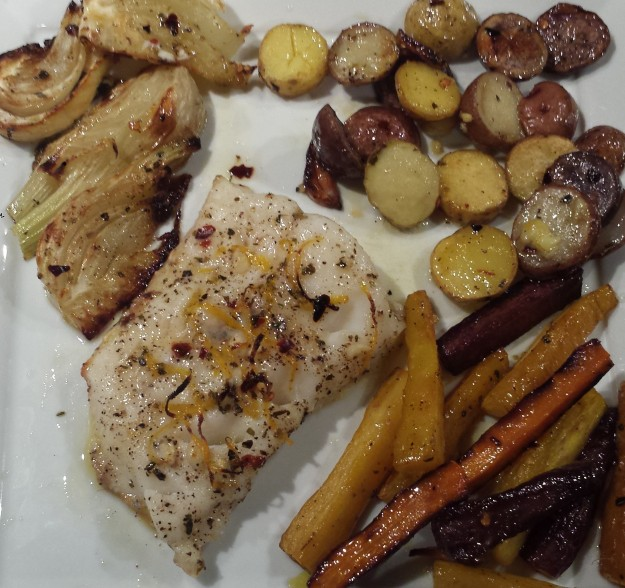 Cod with roasted veggies13