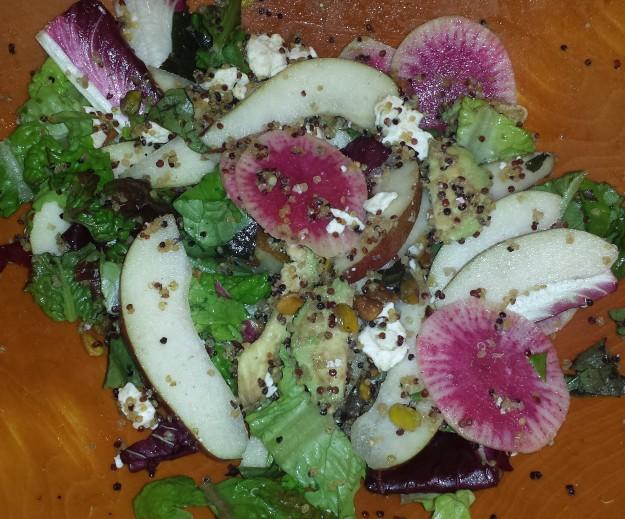Green Salad with Crispy Quinoa13