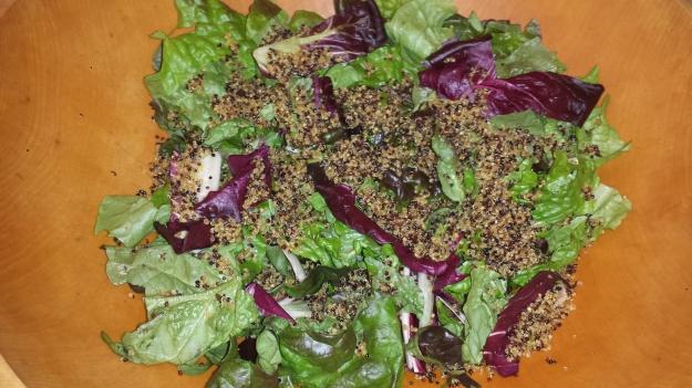 Green Salad with Crispy Quinoa9