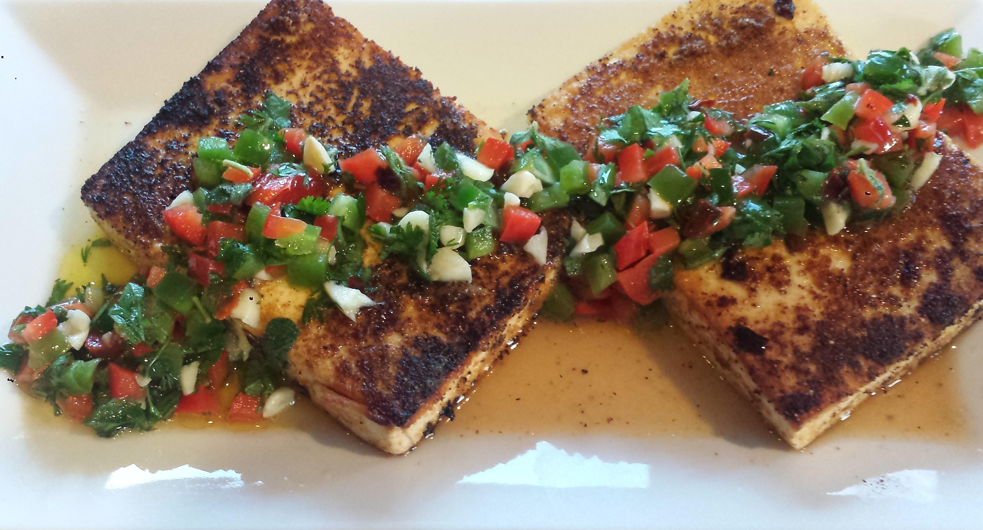 Wheatless Wednesday – Tofu \'Steaks\' with Chimichurri Sauce ...