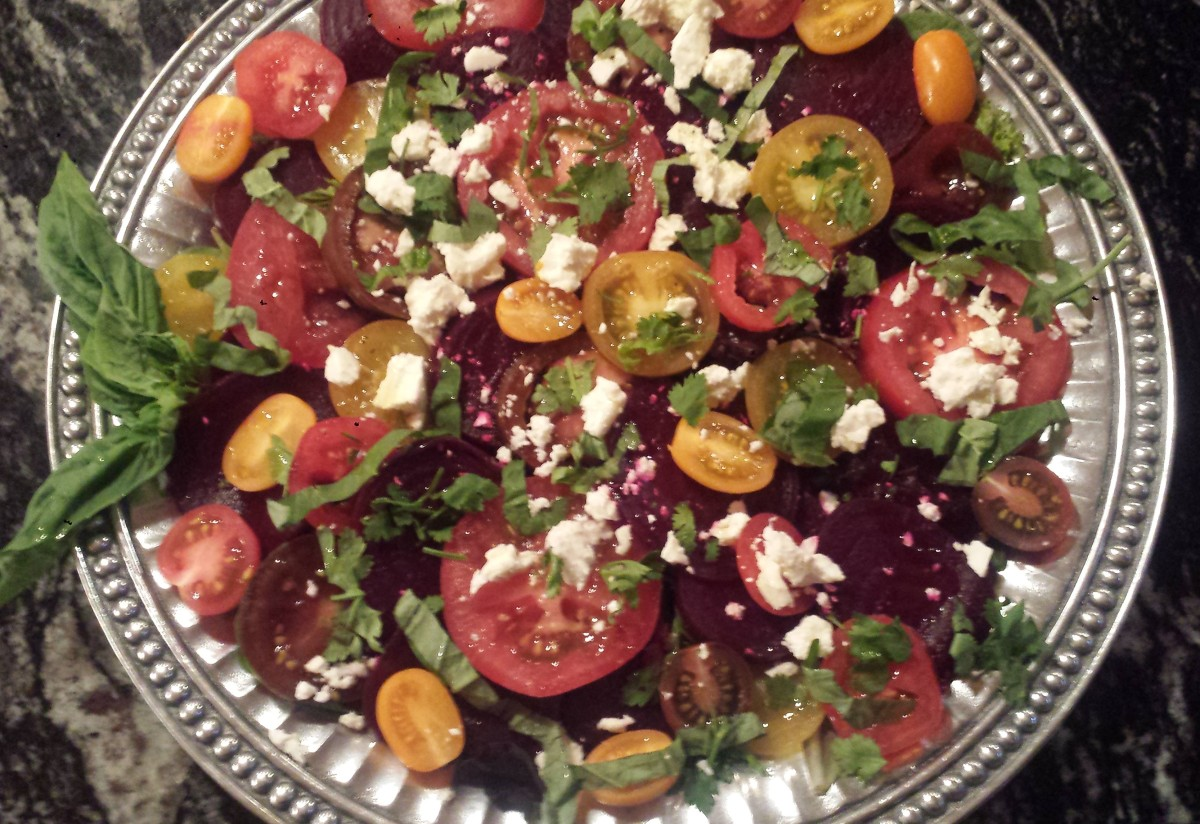 Wheatless Wednesday - Roasted Beet and Tomato Salad